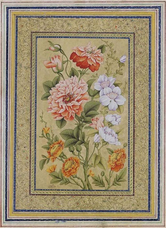 study of flowers by anonymous iranian