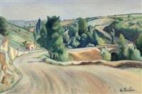 paysage de campagne au pont by etienne morillon