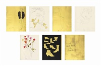 a gold book (bk w/19 works) by andy warhol