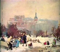 promenade en hiver by lidia davidenkova
