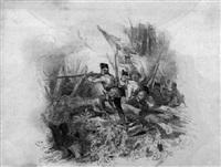 schlacht: angriff österreichischer soldaten by friedrich (fritz) l' allemand