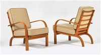 armchairs (pair) by magnus læssoe stephensen