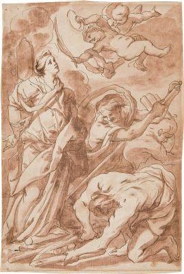das martyrium der heiligen afra (design) by johann christoph storer