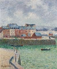 le port (l'avant-port de dieppe) by gustave loiseau