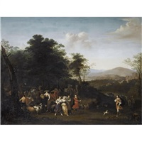 the meeting of jacob and laban by françois verwilt