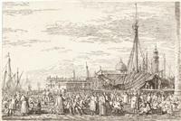 il mercato sul molo by canaletto