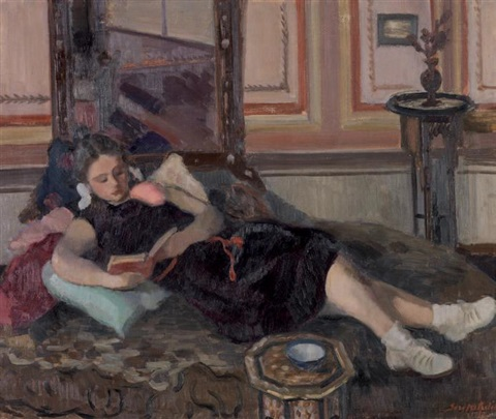 kitap okuyan kız by seref akdik