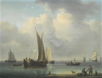 dutch vessels in a calm by william anderson
