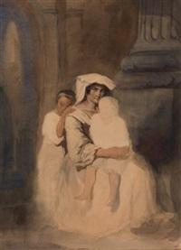 romaine et ses deux enfants by théodore valerio