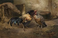 høne og hane by karl kristian uchermann