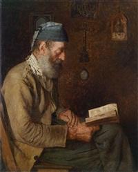ein lesender alter mann by alfred pierre joseph jeanmougin