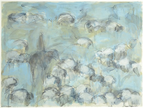 white cloud sheep by theodore waddell