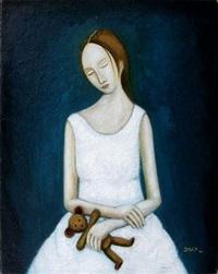 jeune femme au doudou by remy disch