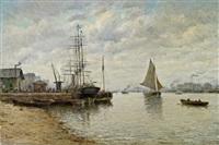 schiffe im hafen von nantes by amélie burdin