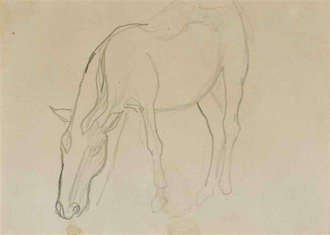 cheval (recto) and etude de personnage (verso) by paul gauguin