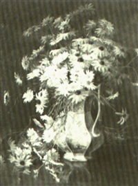 still life of daises and black-eyed susans by lydia m. b. hubbard