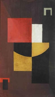 abstract composition by g. m. solegaonkar