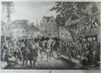 washington's triumphal entry into new york, nov. 25, 1783 by william (publisher) smith