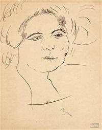 portrait de femme by jules pascin