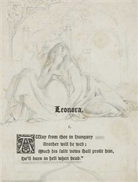 illustration to burger's leonora by daniel maclise