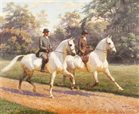 untitled (equestrian scene) by oscar merte