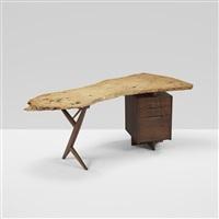 important conoid desk by george nakashima