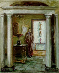 man in a doorway by ethel sands