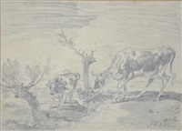 etude de vaches (study) by james ward
