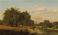 pastoral scene in greene county by george herbert mccord