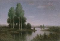 cielo, alberi, acqua by noel quintavalle