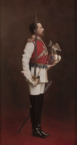 Portrait of an Imperial Russian officer of the Chevalier Guards by