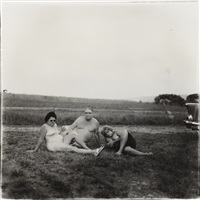 a family one evening in a nudist camp by diane arbus