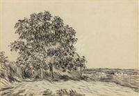 la plaine de thomery et le village de champagne by alfred sisley