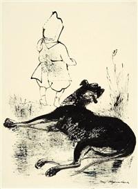 hund und kind by josef hegenbarth