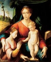 alexandriai szent katalin misztikus eljegyzése by innocenzo di pietro (da imola) francucci