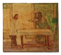 study for christ at the home of mary and martha by henry ossawa tanner
