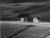 two barns, dansville, new york by minor white