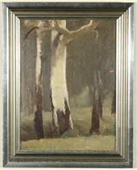 pair of paintings, landscapes by albert ernest newbury