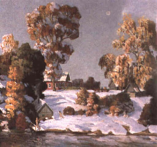 paysage de neige by tatiana fedoulova