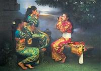 peliatan dancers by rearngsak boonyavanishkul