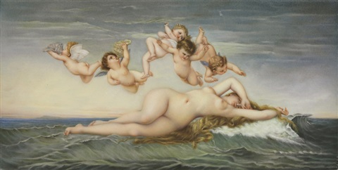 the birth of venus plaque by alexandre cabanel