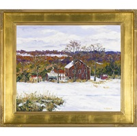 plumstead winter farm, bucks county by william jachwak