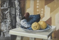 still life with decoy duck by john coyle