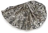 silver lustre fan by lynda benglis