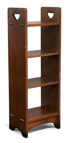 magazine rack model 79 by gustav stickley