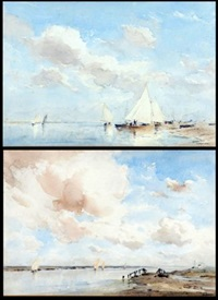 view of blakeney (+ another; pair) by arthur gerald ackermann