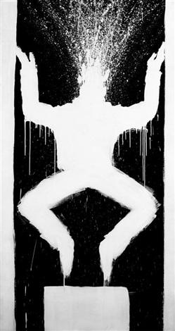 leaping figure by richard hambleton