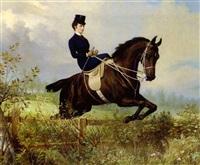 kaiserin elisabeth von österreich zu pferd by hans (johann) haag