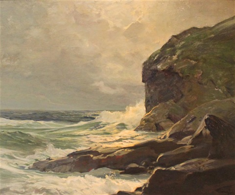 around the cliff by frederick judd waugh