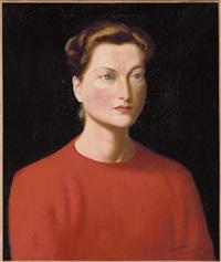 portrait de isabelle, comtesse de paris by candido portinari
